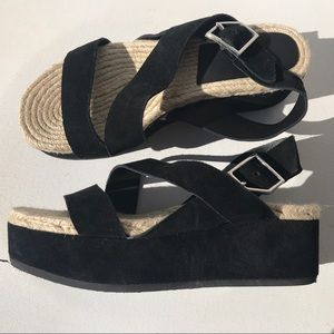 New RAG & BONE platform Megan shoes 38 8 Sandals